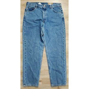 Carhartt Mens B17 Relaxed Fit Tapered Blue Jeans